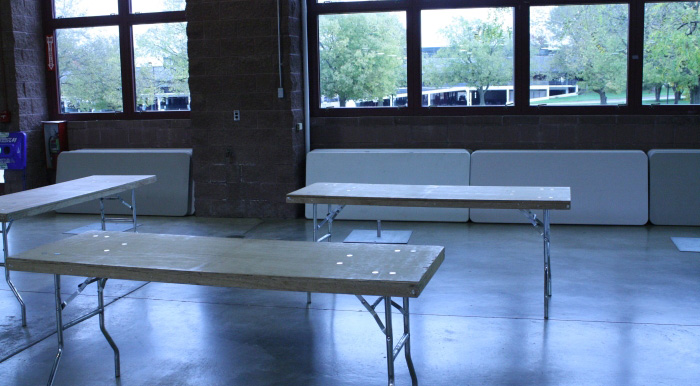 Orr building with tables